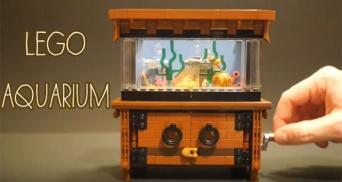 レゴフィッシュたちが泳ぐ!。レゴブロックで作った小さなアクアリウム