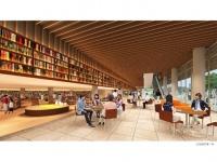 RIAによる市民図書館・基本設計のパース