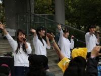 Stereo Tokyoのメンバー。靭帯を傷めた椎名あやかさんはこの日のライブはお休み。