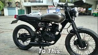 バイク改造計画。McMカスタムズのカフェレーサー風ホンダ・シャイン