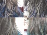 ブルー、グリーン、バイオレットを入れたの寒色系個性派カラー☆