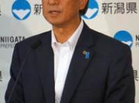 6月21日県庁内での花角知事の会見(撮影・横田一)
