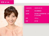 『宇賀 なつみ|アナウンサーズ|テレビ朝日』より