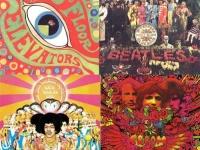 13TH FLOOR ELEVATORS / サーティーンス・フロア・エレヴェーターズ(左上)Sgt. Pepper's Lonely Hearts Club Band / ザ・ビートルズ(右上)Axis: Bold As Love / ザ・ジミ・ヘンドリックス・エクスペリエンス(左下)Disraeli Gears / クリーム(右下)