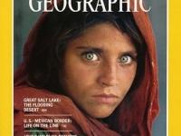 アフガンの少女 画像は「NATIONAL GEOGRAPHIC」(1985年6月号)