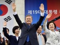 文在寅新大統領、国会で就任宣誓(YONHAP NEWS/アフロ)