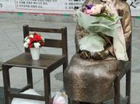 韓国の日本大使館前に設置されている慰安婦像