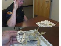 米国でトカゲが警察官に任命される!?