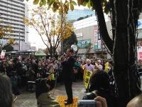 【衆院選リポート】小沢一郎代表、ガールズ青木氏応援に駆け付けた現場