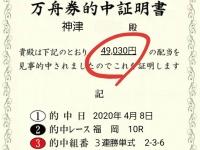 福岡ヴィーナスシリーズで4万舟券的中!