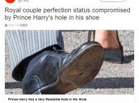 英ヘンリー王子、親友の結婚式に穴の開いた靴で出席し注目を浴びる