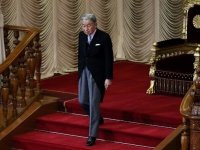 通常国会開会式での天皇陛下(写真:つのだよしお/アフロ)