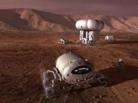 有人火星探査の想像図 画像は「Wikipedia」より引用