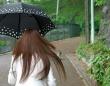 人ゴミで傘を持つ際はくれぐれもご注意を