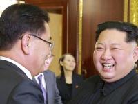 韓国大統領の特使 金正恩氏と面会(提供:KNS/KCNA/AFP/アフロ)