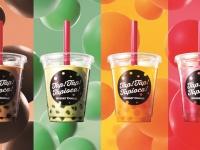 <新商品>『タピオカドリンク』左より「ミルクティ」「抹茶ミルク」「マンゴーオレンジ」「ストロベリーソーダ」(各486円)※価格はすべて税込