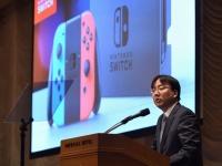 任天堂の古川俊太郎代表取締役社長(写真:AFP/アフロ)