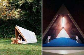 犬が音におびえないように。フォード社が開発中のノイズキャンセリング機能を搭載した犬小屋(ヨーロッパ)