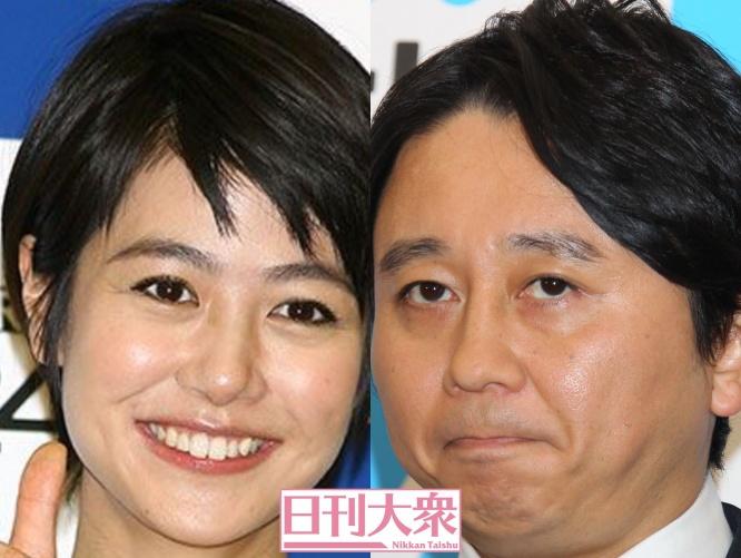 (左より)夏目三久・有吉弘行