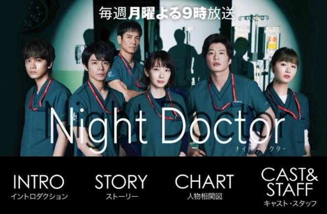 『Night Doctor』フジテレビ公式サイトより
