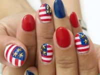 アメリカをイメージしたネイルでニューヨーカーを気取ろう♡