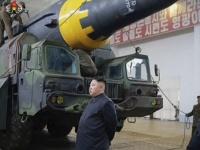 北朝鮮が弾道ミサイル発射 KCNAが実施の模様伝える(ビデオ画像、提供:KRT/AP/アフロ)