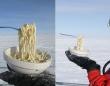 バナナで釘が打てるくらいだもの。南極の野外で食事をしようとするとすべてが食品サンプル化する件