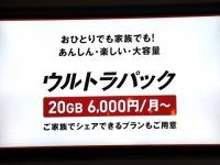 NTTドコモがギガモンスター対抗して発表した「ウルトラパック」