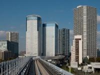 「ゆりかもめ」から見た豊洲駅周辺(「Wikipedia」より)