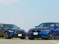 7代目となる新型BMW3シリーズと、2014年5月に販売開始された13代目スカイライン