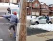 絵にかいた因果応報。置き引き犯が逃走失敗。車が雪にはまってさあ大変