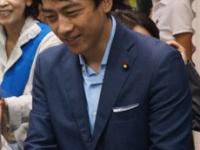茨城県知事選の応援に駆けつけた小泉進次郎議員(写真・横田一)