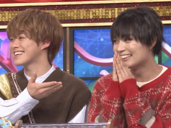 大橋和也(左)、大西流星(なにわ男子)※画像はTBS『クイズ!THE違和感』の公式ツイッターアカウント「@iwakan_tbs」より