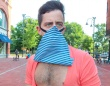 マスク忘れた?でも大丈夫。緊急時にマスクになるこのTシャツならば!
