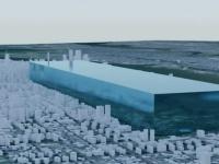 思った以上にとけている。NASAがニューヨークに氷塊を置き、南極とグリーンランドで解けた氷の量を可視化