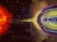 太陽風と地球磁気圏との相互作用 画像は「Wikipedia」より引用